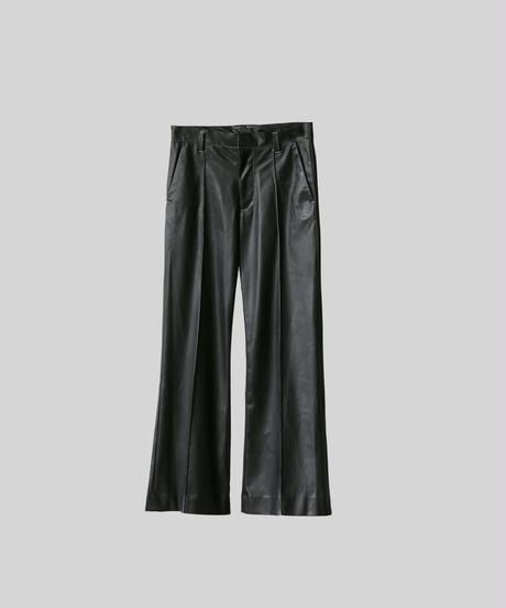 【4.17[sat]20:00‐PRE‐ORDER】NEW SYNTHETIC LEATHER FLARED PANTS(WHITE STITCH)