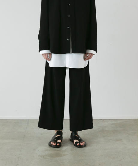 【3.27(sat)20:00‐ PRE‐ORDER】BELTED WORK  STRAIGHT TROUSERS (BLACK)