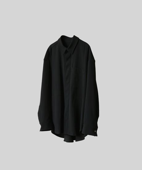 【3.27(sat)20:00‐ PRE‐ORDER】OVERSIZED WORK SHIRT JACKET  (BLACK)