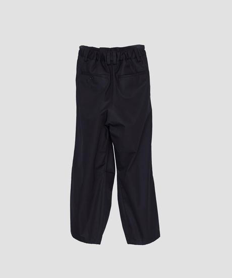 VENTILE COTTON DRAWSTRING PANTS (BLACK)
