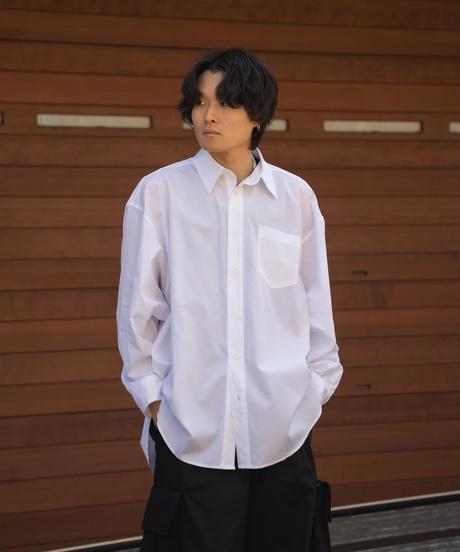 【4.27[tue] 20:00‐ PRE‐ORDER】FINX COTTON EXTRA WIDE SHIRT  (WHITE)