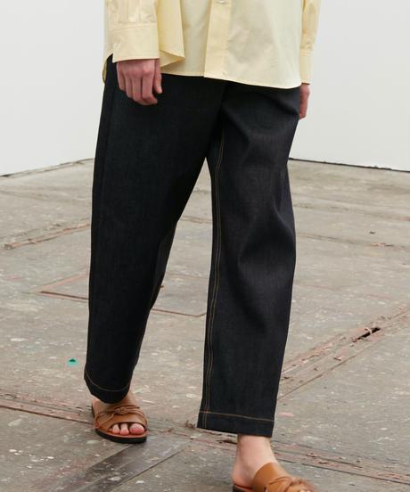 【4.27[tue]20:00‐PRE‐ORDER】DENIM WIDE EASY PANTS  (INDIGO RIGID)