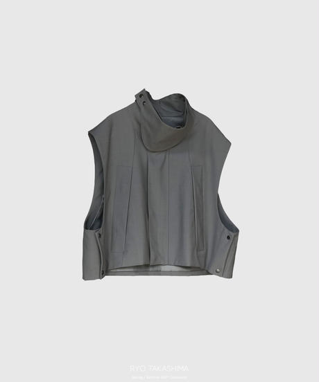【2.24(wed)20:00‐PRE-ORDER】STAND COLLAR ACTIVE VEST(GRAY)
