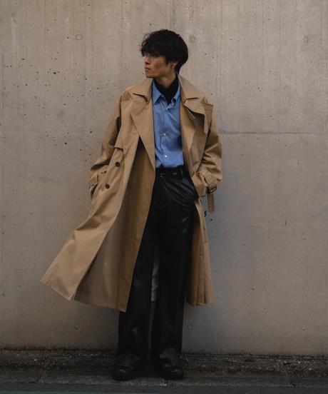 【在庫販売】LAYERED TRENCH COAT(BEIGE)