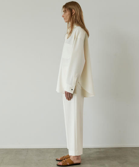 【3.27(sat)20:00‐ PRE‐ORDER】BELTED WORK  STRAIGHT TROUSERS (IVORY)