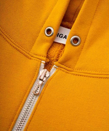 DIGAWEL  Dolman Sleeve zip Hoodie【MASTARD】