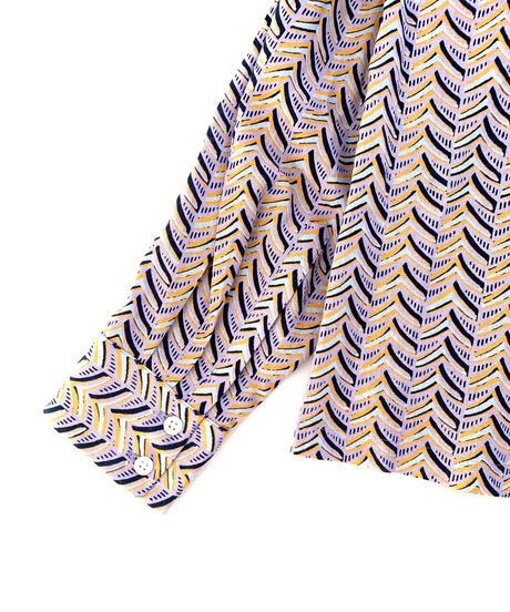 DIGAWEL  OPEN COLLAR L/S SHIRT ②(Herringbone)