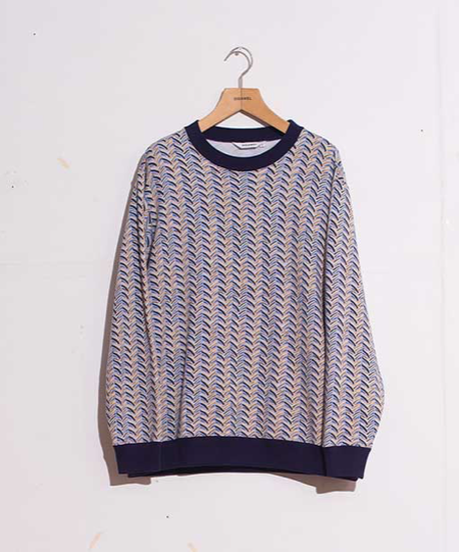 DIGAWEL  SWEAT SHIRT①(Herringbone) 【PURPLE】