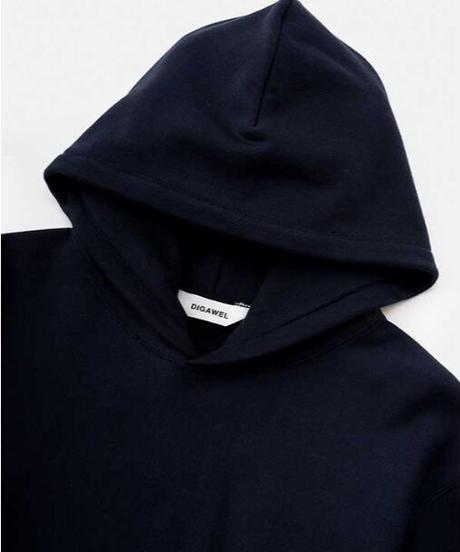 DIGAWEL  Reverse Weave Hoodie【NAVY】