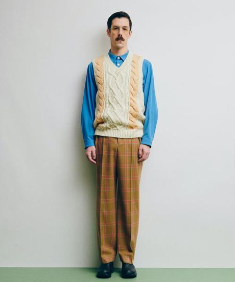 DIGAWEL  Cable Stitch Vest【WHITE】