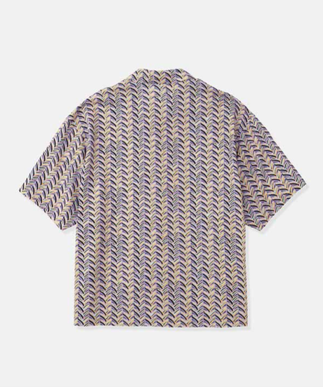 DIGAWEL  OPEN COLLAR S/S SHIRT ②(Herringbone)