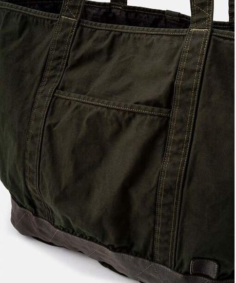 DIGAWEL  Garment Dye Vinyl Tote Bag (L)【OLIVE】