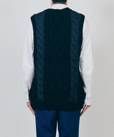 DIGAWEL  Cable Stitch Vest【BLACK】
