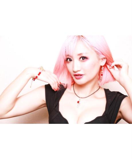 【Hiina Rose】/クリスタル・ハートビート イヤリング(G)
