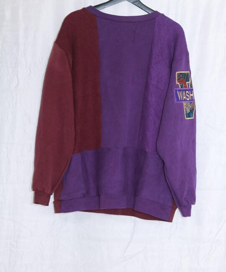 No.R-W-031  college logo front and right sleeve print sweat