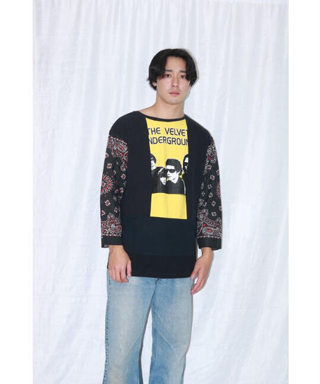 No.R-W-083 remake rocktee sleeve bandana shirt