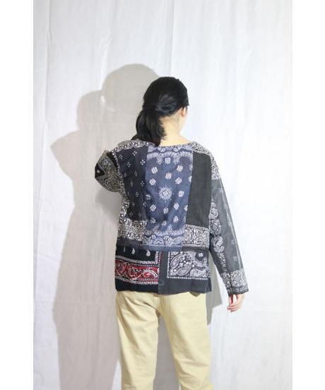 No.R-W-061 remake bandanna  pullover shirt
