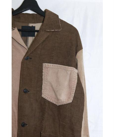 No.R-W-100  Fringe Corduroy Jacket(Brown×Beige)
