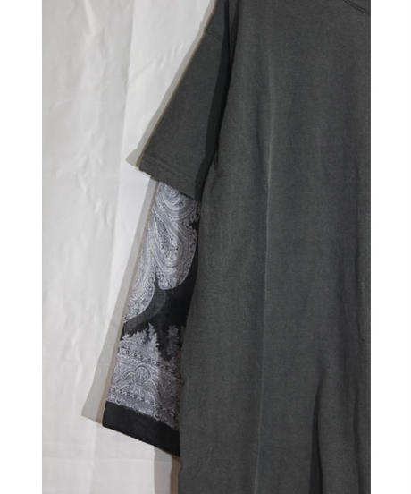 No.R-W-078 Remake Sleeve Layered  Pullover -Scarf