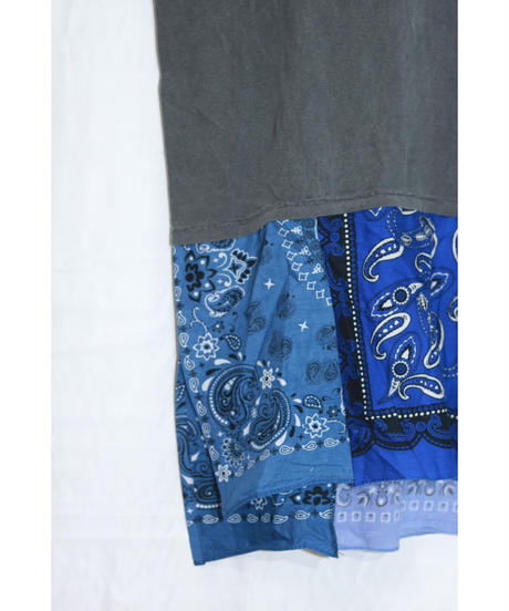 【限定アイテム】No.R-W-102 Switching Pullover -BANDANA (Black×Blue)