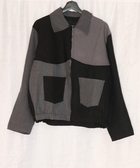 No.R-W-057 remake  western blouson (Black×Gray)
