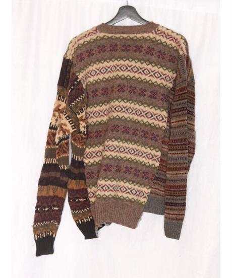 No.R-W-032 remake 3 panel border knit