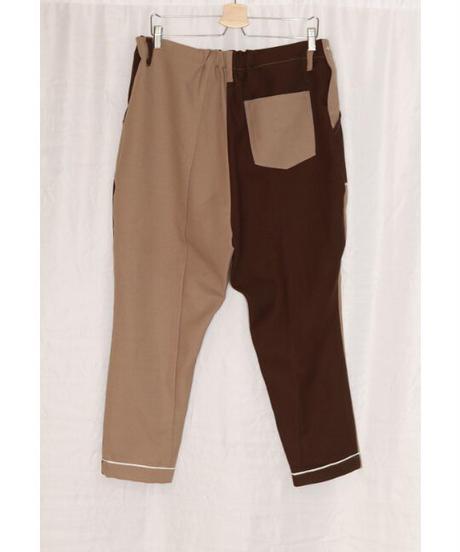 No.R-W-058 remake  western pants (Beige×Brown)