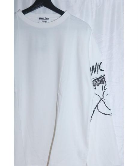 No.W×S-001   WEYEP©︎SONIC YOUTH  Sleeve Rocktee