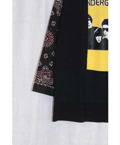 No.R-W-083 remake rocktee sleeve bandana shirt