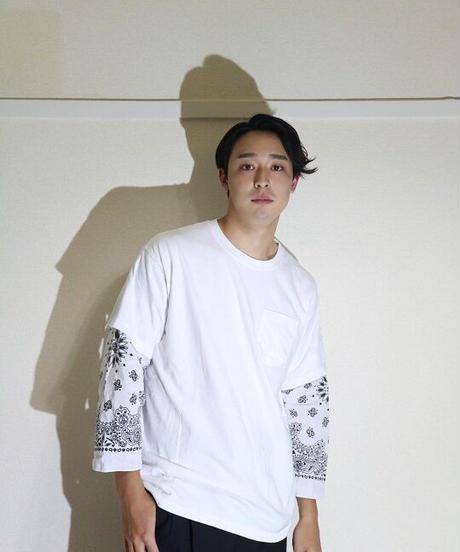 No.R-W×C-001 Sleeve Layered  Pullover -BANDANA