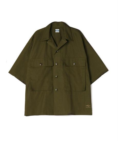 Cotton/Polyester Rip Stop Big Pocket H/S Shirt Jacket