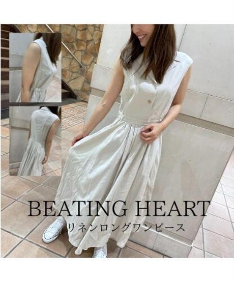 BEATING HEART/リネンロングワンピース
