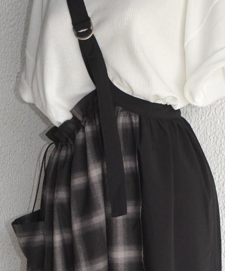 異素材切り替えワンショルダースカート(AG028003-09)