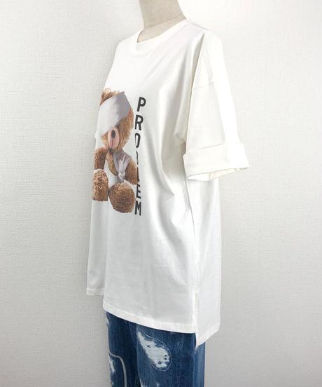 ワイドスリーブBEAR Tシャツ(AF218005-01)