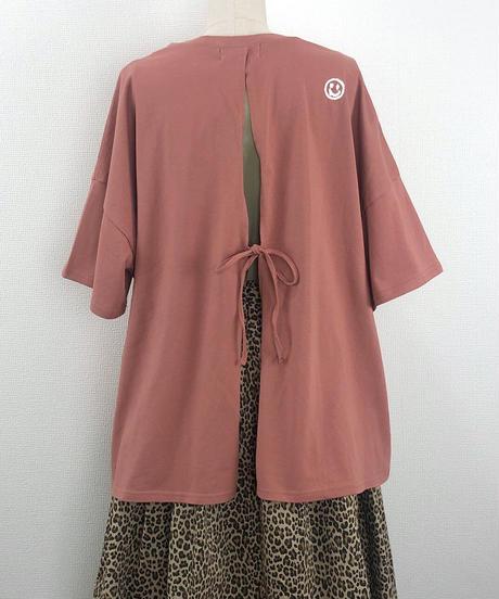 バックリボンルーズTシャツ(AF207005-47)