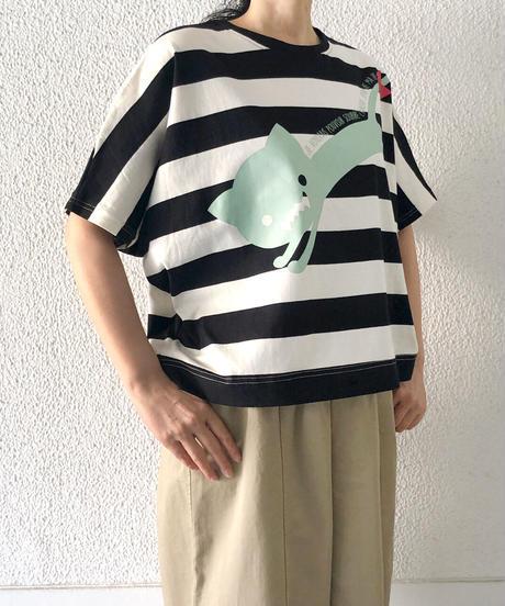 ワイドボーダードルマンTシャツ(RF251005-09)