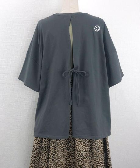 バックリボンルーズTシャツ(AF207005-08)