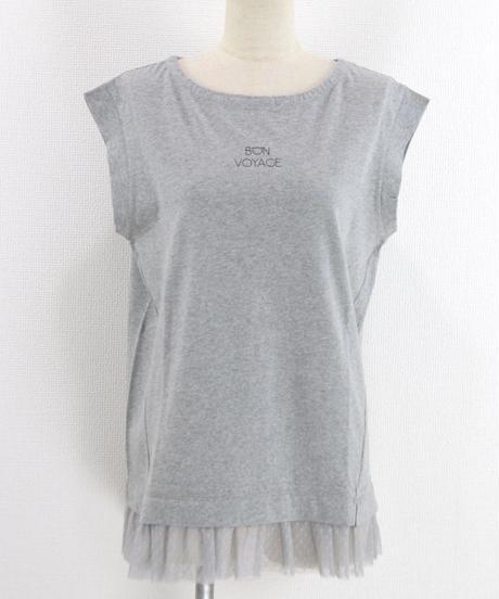 裾チュールTシャツ(RF238001-07)