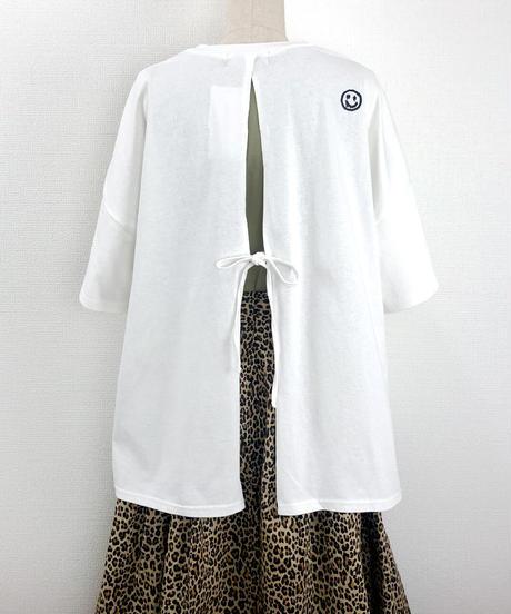 バックリボンルーズTシャツ(AF207005-01)