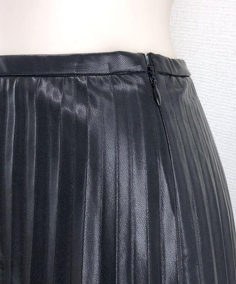 フェイクレザープリーツスカート(AG012005-09)