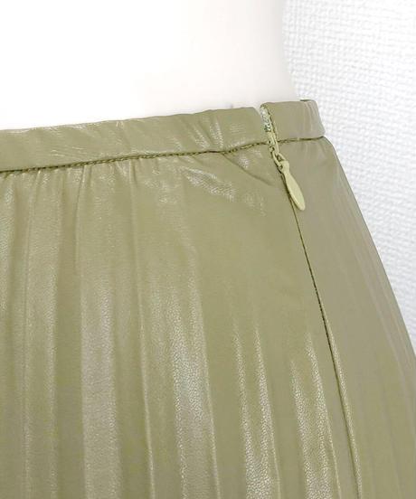 フェイクレザープリーツスカート(AG012005-63)