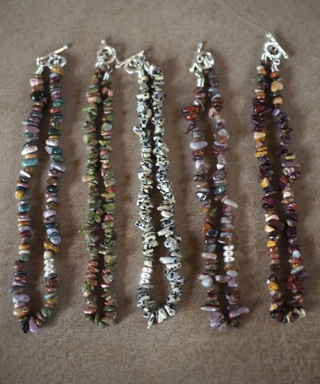 stone short necklace -dalmatian jasper-