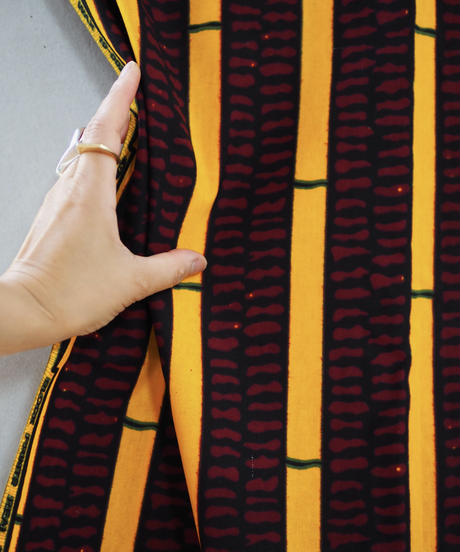 batik kaftan -turmeric-