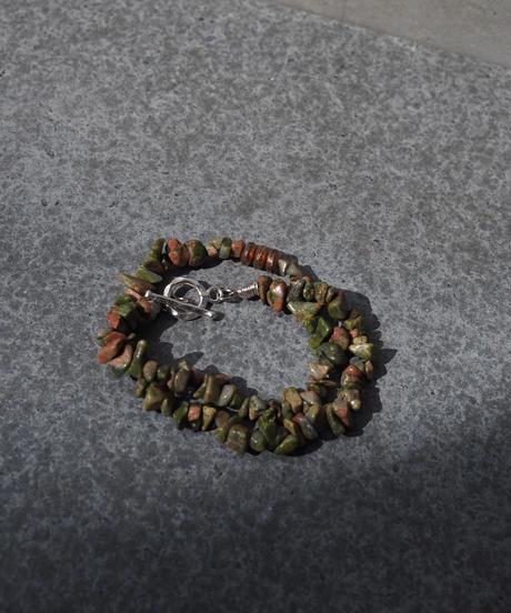 stone short necklace -unikite-