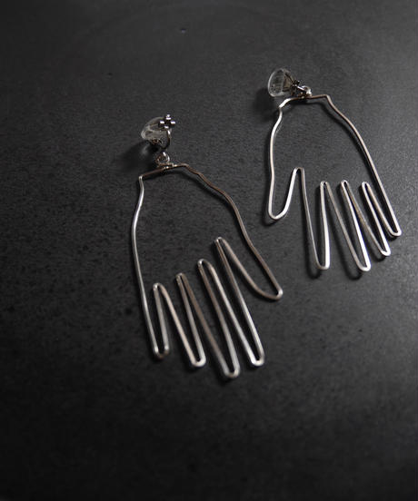 """made  by """"hand""""pierce/earring SILVER"""