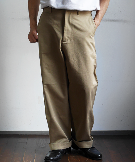 AURALEE Washed Finx Chino Wide Pants
