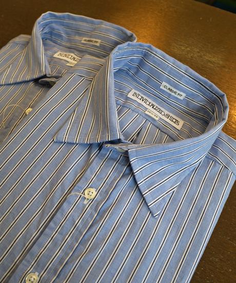 INDIVIDUALIZED SHIRTS Classic Fit Regular Collar Pajama Stripe