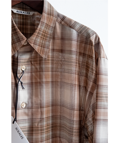 AURALEE Wool Recycled Polyester Cloth Shirts
