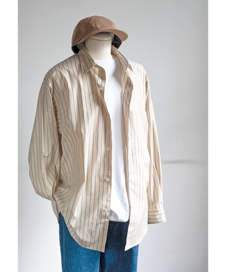 ULTERIOR Overlaid Striped Shirt