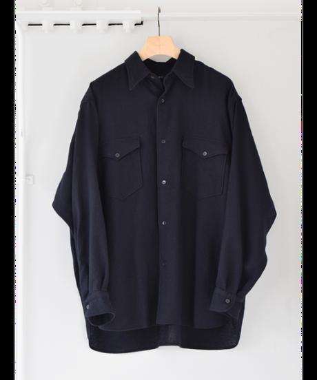 COMOLI カシミヤ和紙ワークシャツ